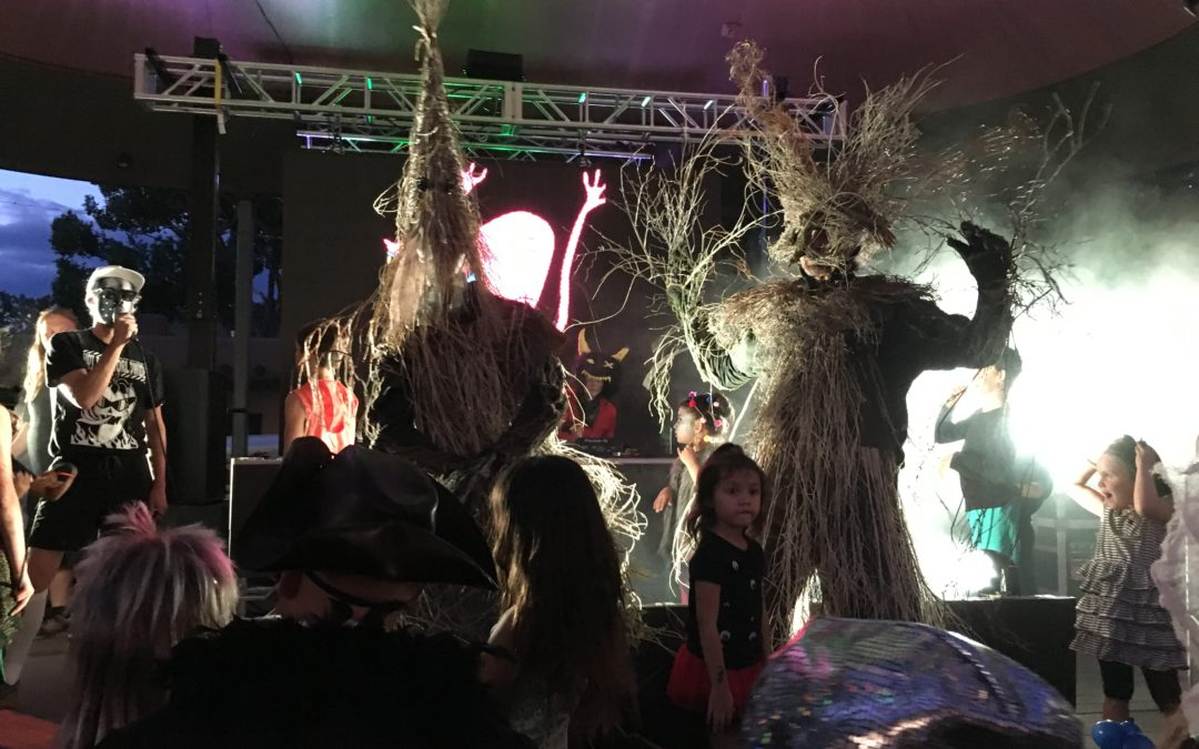Shrubconscious Meets Meow Wolf at Monster Battle